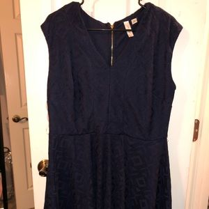 Sleeveless Navy Flare out dress